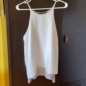 ZARA white and gray top size XL